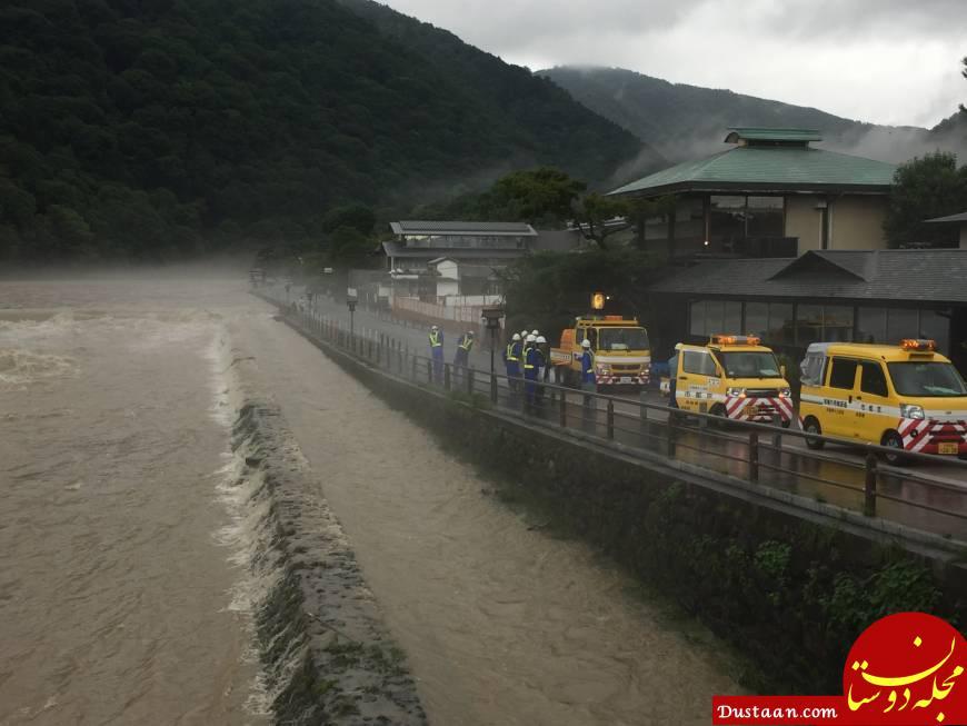 www.dustaan.com 100 کشته در باران بی سابقه ژاپن