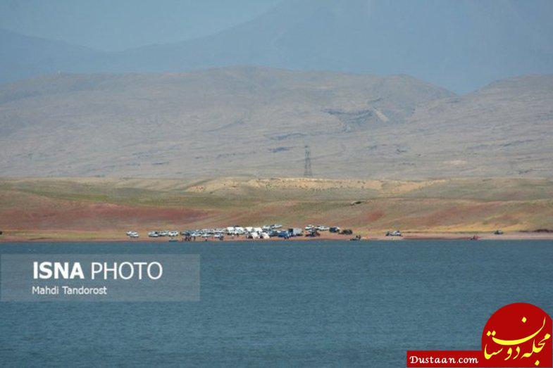 www.dustaan.com تلاش ها برای یافتن جسد مرد غرق شده در سد ماکو +عکس
