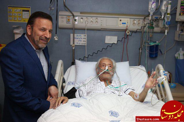www.dustaan.com عکس: واعظی بر بالین استاد جمشید مشایخی
