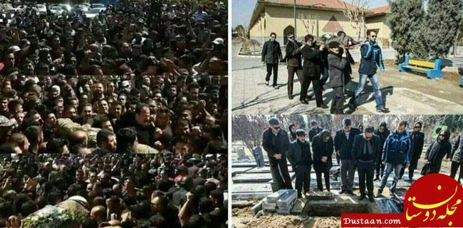 www.dustaan.com دو تصویر از دو مراسم خاکسپاری متفاوت در ایران