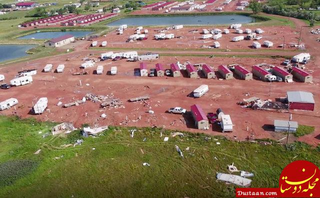 www.dustaan.com طوفان شدید در آمریکا یک کشته و 28 زخمی برجا گذاشت