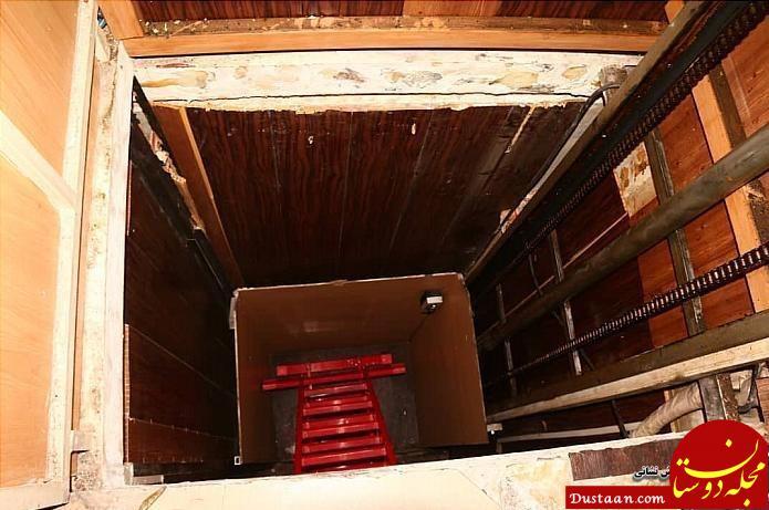 www.dustaan.com سقوط همزمان 2 مرد به چاهک آسانسور +عکس