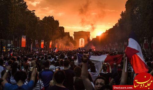 www.dustaan.com آشوب جشن پیروزی جام جهانی در فرانسه +تصاویر