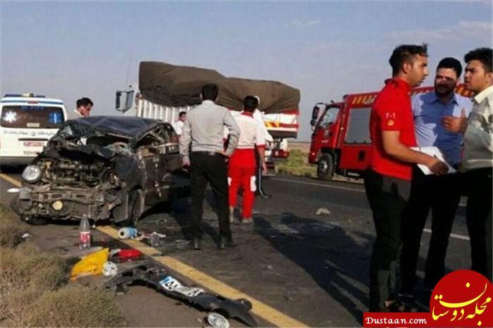 www.dustaan.com برخورد مرگ بار خودرو با زائران پیاده در سبزوار