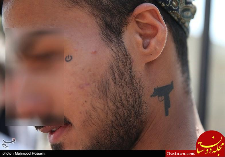 www.dustaan.com خالکوبی های ترسناک اوباش تهران! +تصاویر