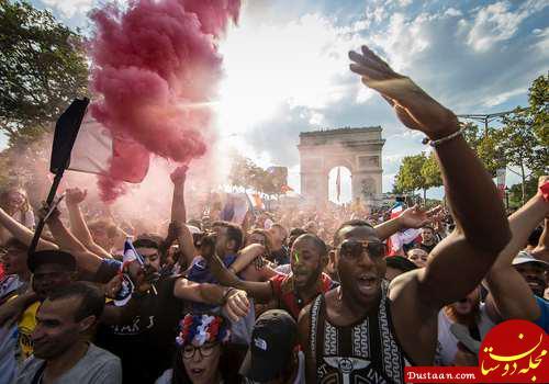www.dustaan.com عکس های زیبا از  جشن قهرمانی فرانسه در پاریس و الیزه