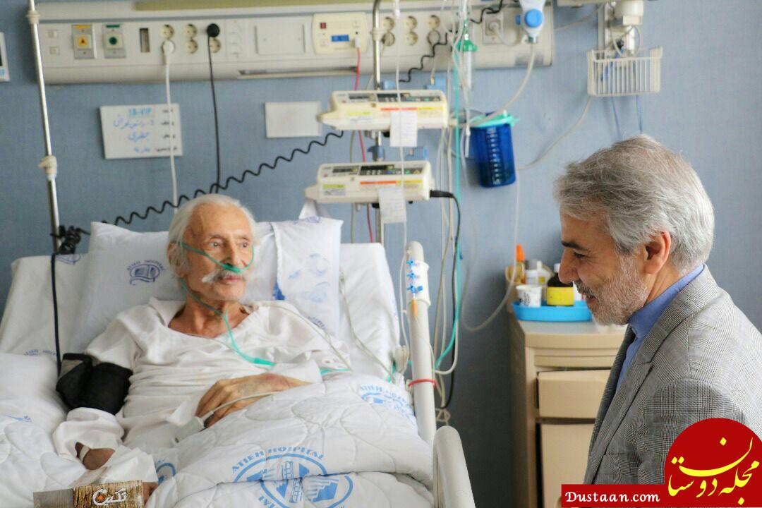 www.dustaan.com عیادت نوبخت از «جمشید مشایخی» +عکس