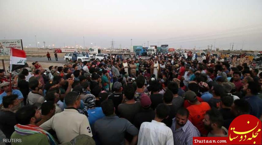 www.dustaan.com عراقی ها جاده منتهی به منطقه نفت خیز را بستند