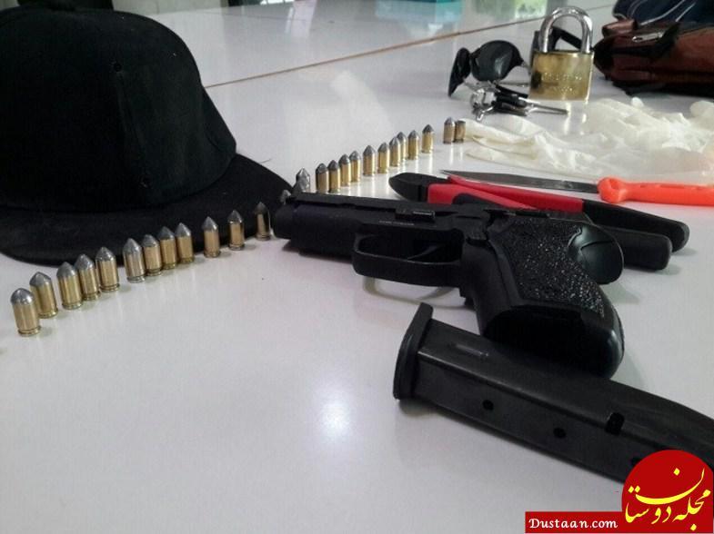 www.dustaan.com جزئیات دستگیری سارق مسلح بانک ملی +تصاویر