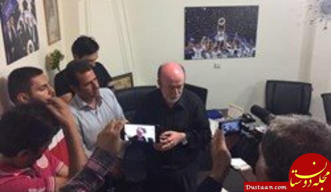 www.dustaan.com گریه مدیرعامل سابق استقلال به خاطر فحاشی هواداران +عکس