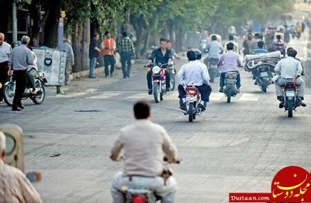 www.dustaan.com برخورد با مخدوش کنندگان پلاک موتور سیکلت در تهران