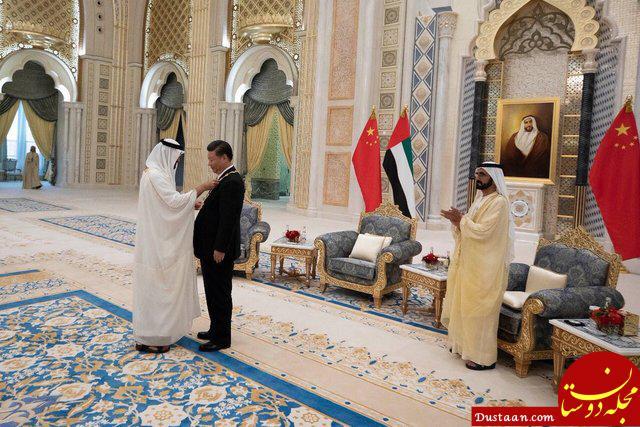 www.dustaan.com اعطای عالی ترین نشان امارات به جینپینگ +تصاویر
