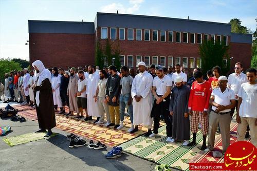 www.dustaan.com برگزاری نماز باران در استکهلم سوئد +تصاویر