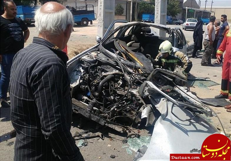 www.dustaan.com پرت شدن 4 سرنشین پژو پس از متلاشی شدن! +تصاویر
