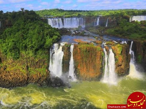 www.dustaan.com عکس های خیره کننده از آبشار ایگواسو در مرز برزیل و آرژانتین