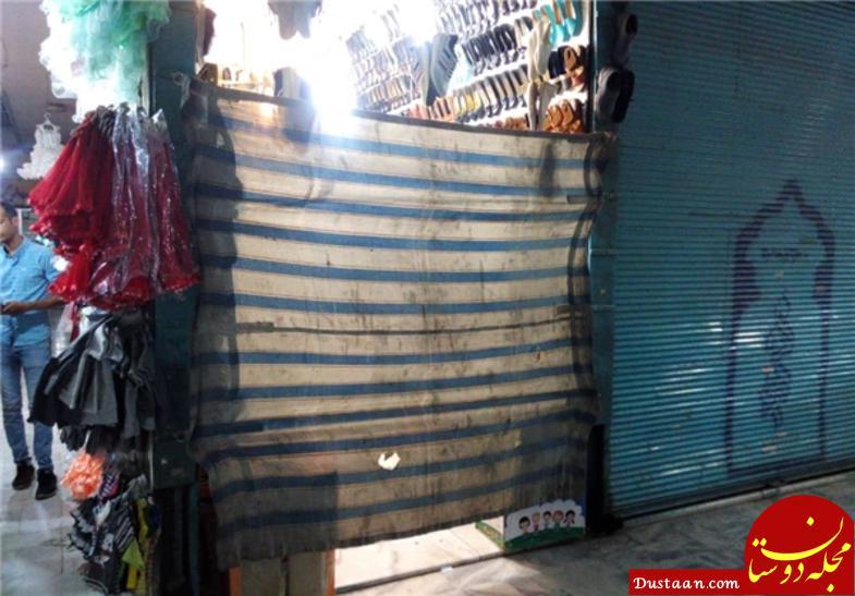 www.dustaan.com اقدام ارزشمند بازاریان مشهد در اقامه نماز اول وقت +عکس