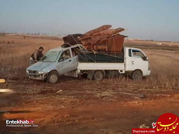 www.dustaan.com غارت اموال شیعیان فوعه و کفریا +تصاویر