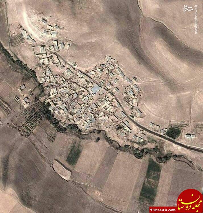 www.dustaan.com عکس هوایی عجیب از یک روستا در زنجان!