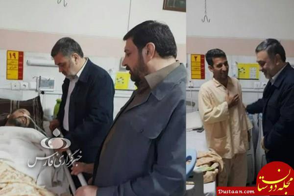 www.dustaan.com عیادت فرمانده ناجا از مجروحان درگیری دیشب +عکس