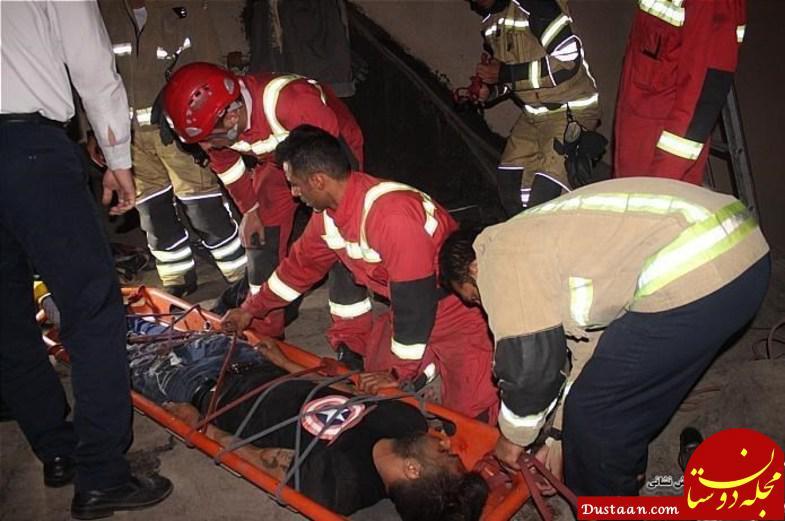 www.dustaan.com سقوط همزمان دو مرد جوان از طبقه چهارم یک ساختمان +عکس