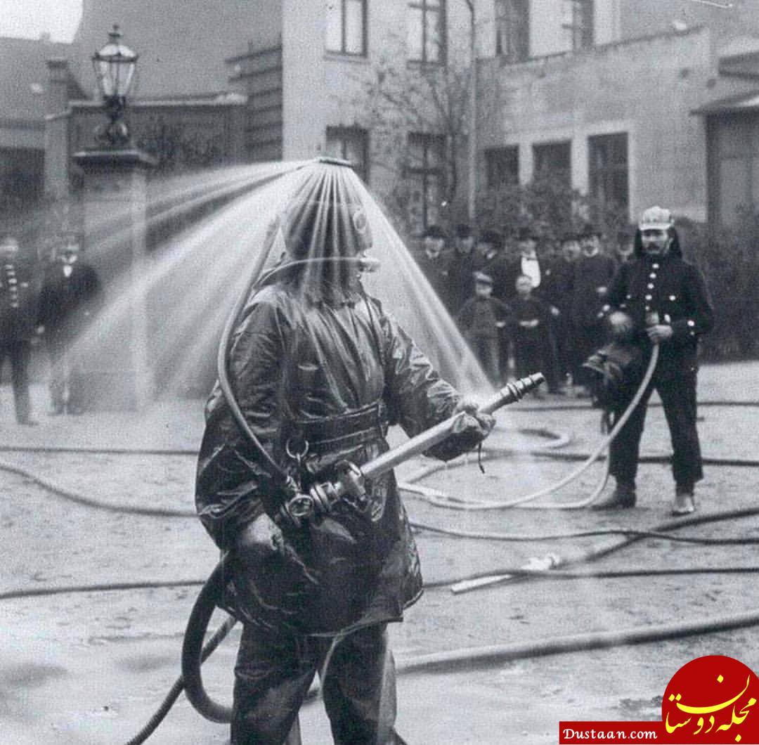 www.dustaan.com اختراع عجیب آتش نشانان آلمانی 90 سال پیش! +عکس