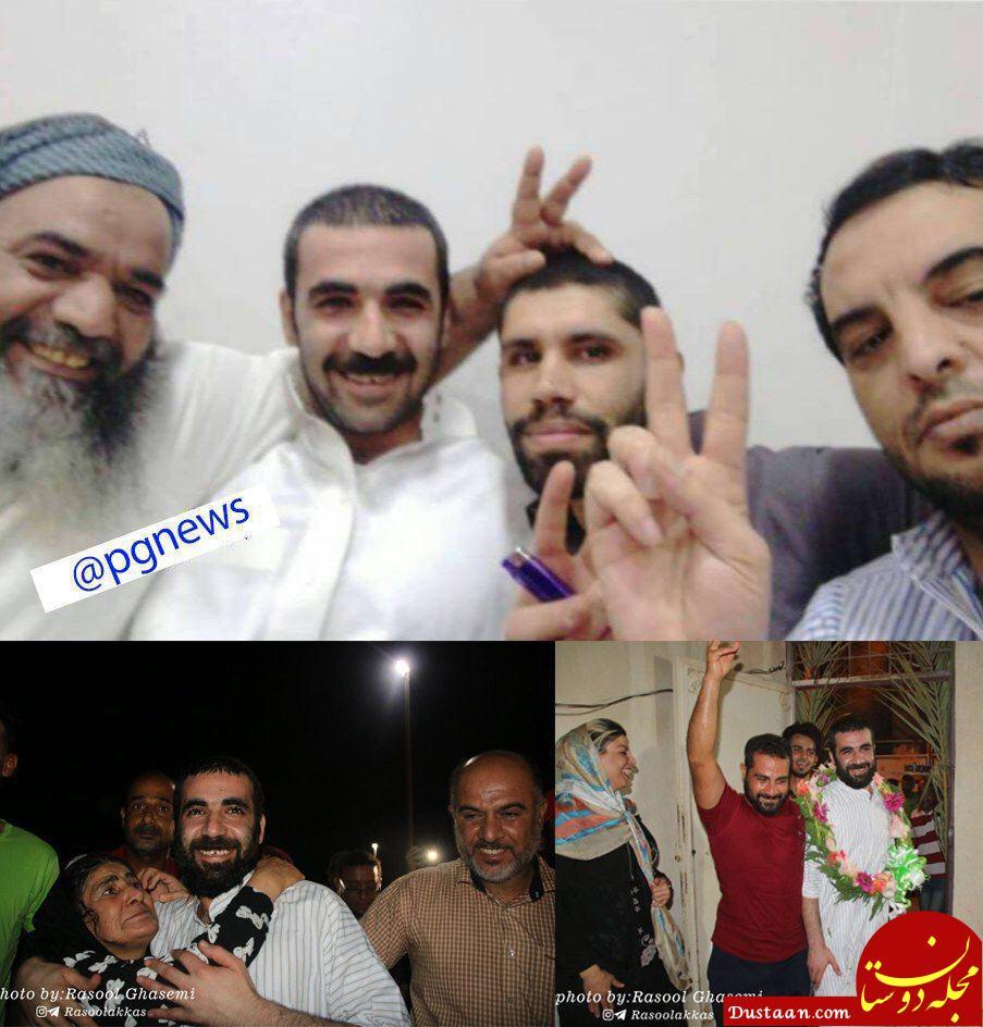 www.dustaan.com آزادی 3 ماهیگیر بوشهری پس از یکسال واندی گرفتاری در زندان های عربستان +عکس