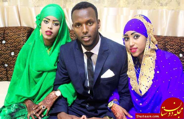 ازدواج عجیب داماد جوان با دختر عمه و دختر عمویش در یک روز! +عکس