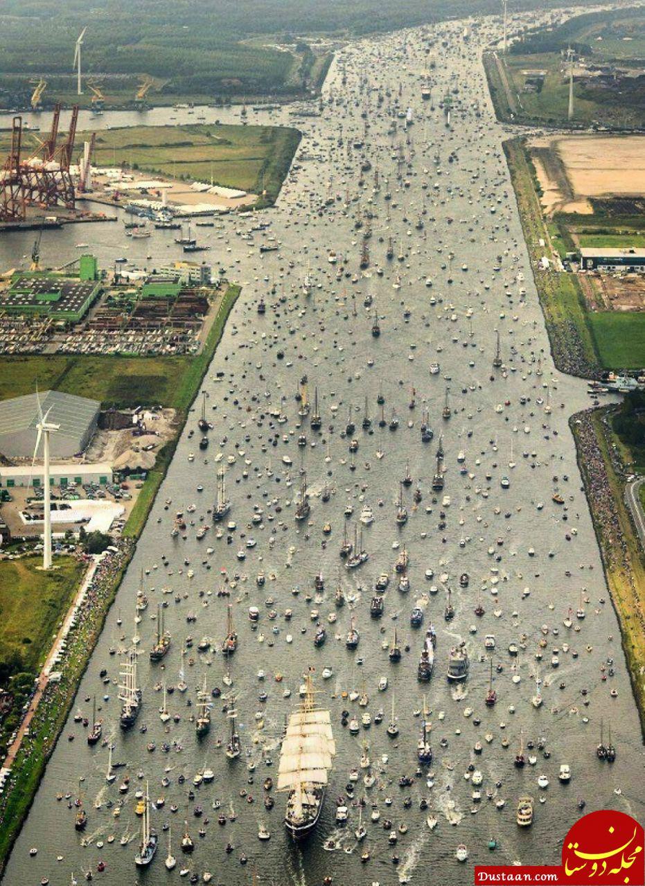 www.dustaan.com ترافیک دریایی در آمستردام هلند! +عکس