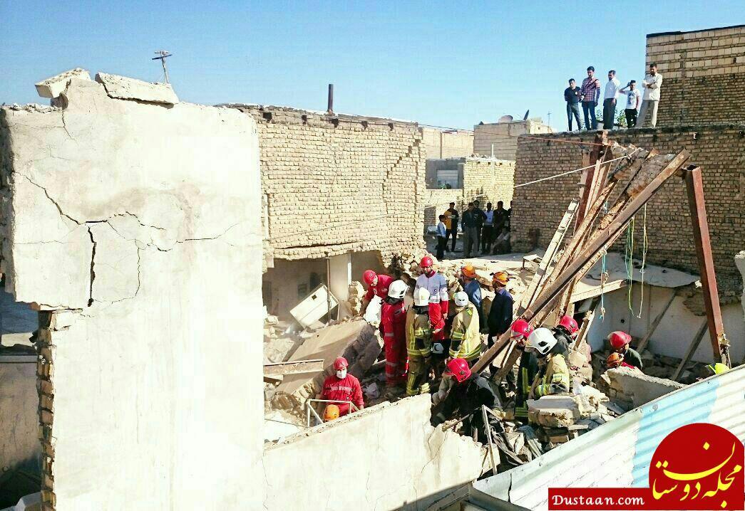 www.dustaan.com 7 کشته و 9 مصدوم در انفجار و آوار خانه ای در شهرک شهید رجایی مشهد +تصاویر