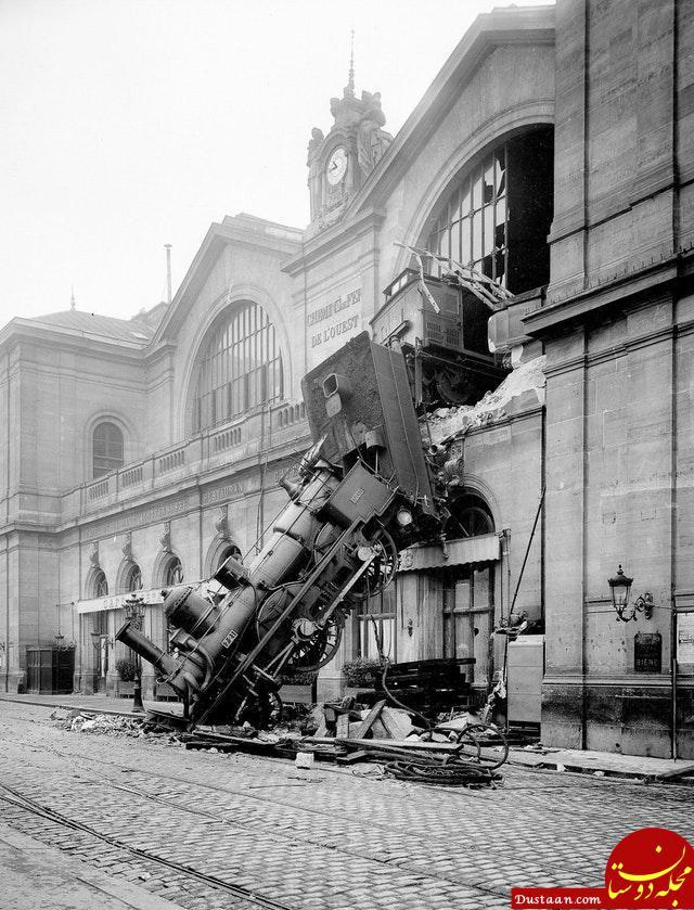 تصادف عجیب قطار در پاریس +عکس