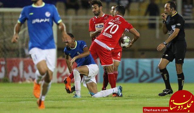 www.dustaan.com لگد شجاع خلیل زاده به بازیکن استقلال خوزستان +عکس