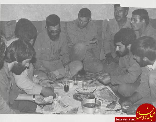 www.dustaan.com رهبر انقلاب در کنار رزمندگان اسلام +عکس