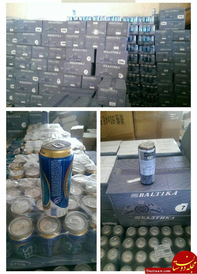 www.dustaan.com کشف 9 هزار بطری مشروبات الکلی در گمرک دیر استان بوشهر +عکس