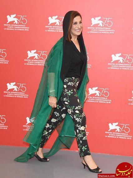 تیپ متفاوت «فاطمه معتمد آریا» در جشنواره فیلم ونیز، ایتالیا +عکس