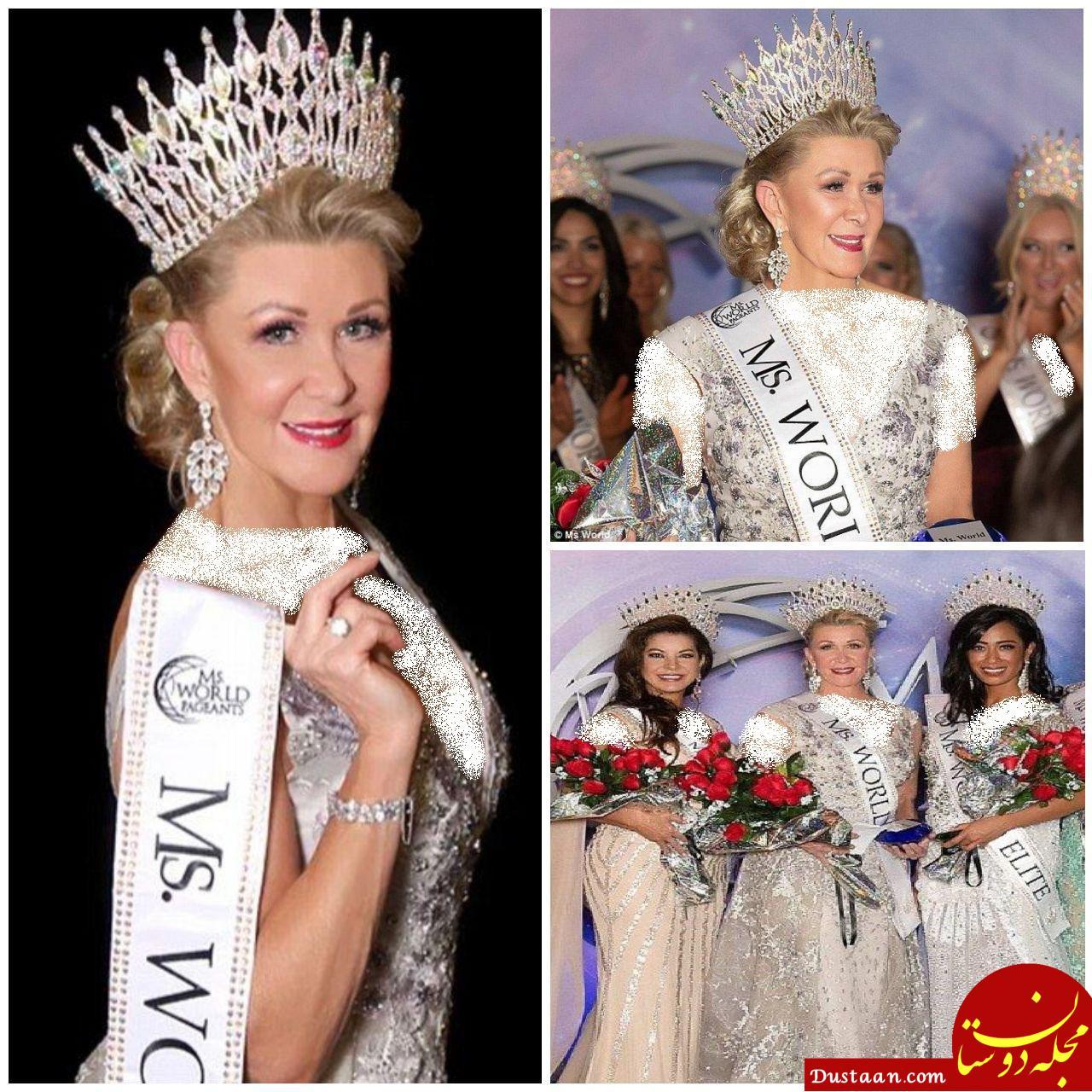 www.dustaan.com زن 60 ساله ای که ملکه زیبایی جهان شد! +تصاویر