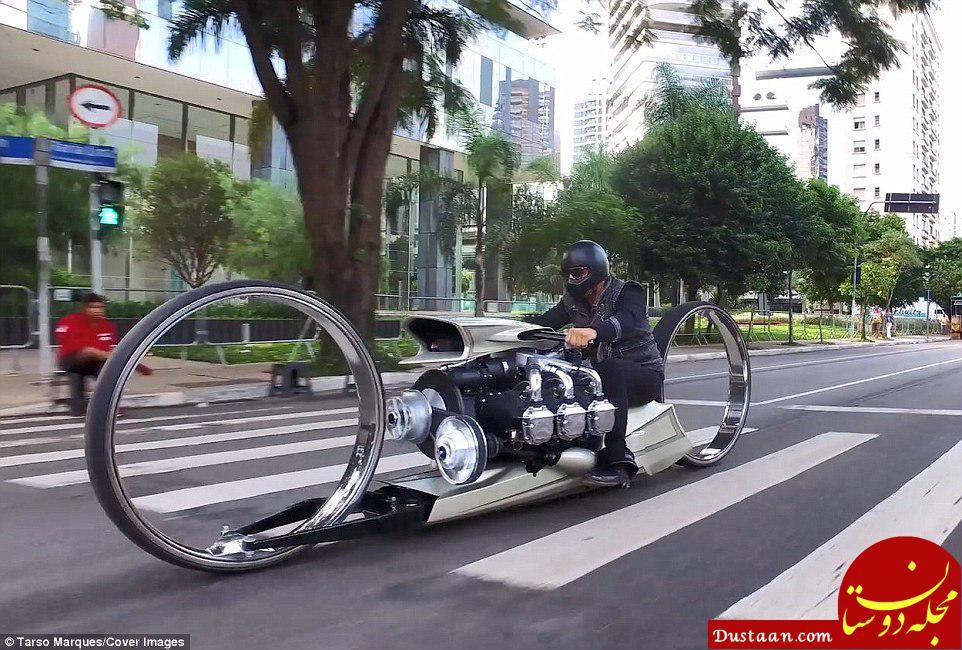 www.dustaan.com ساخت موتورسیکلتی با موتورهواپیما! +عکس
