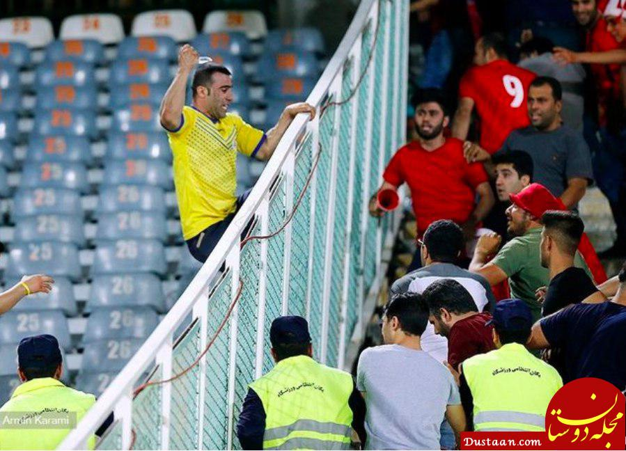 www.dustaan.com چاقوکشی یک هوادار در بازی پرسپولیس  نفت مسجدسلیمان! +عکس