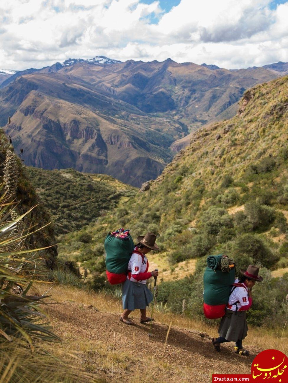www.dustaan.com بارکشی زنان کوله بر برای گردشگران خارجی +عکس