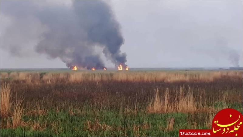 www.dustaan.com تعطیلی یک شهر خوزستان به دلیل آتش سوزی هورالعظیم