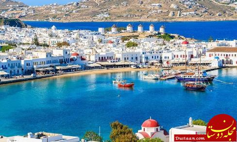 جزیره رنگارنگ میکونوس در یونان