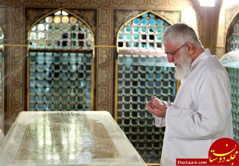 www.dustaan.com عکس: غبارروبی مضجع مطهر امام رضا (ع) با حضور رهبری