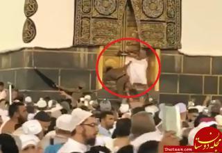 www.dustaan.com بازداشت مردی که قصد وارد کعبه شود! +عکس