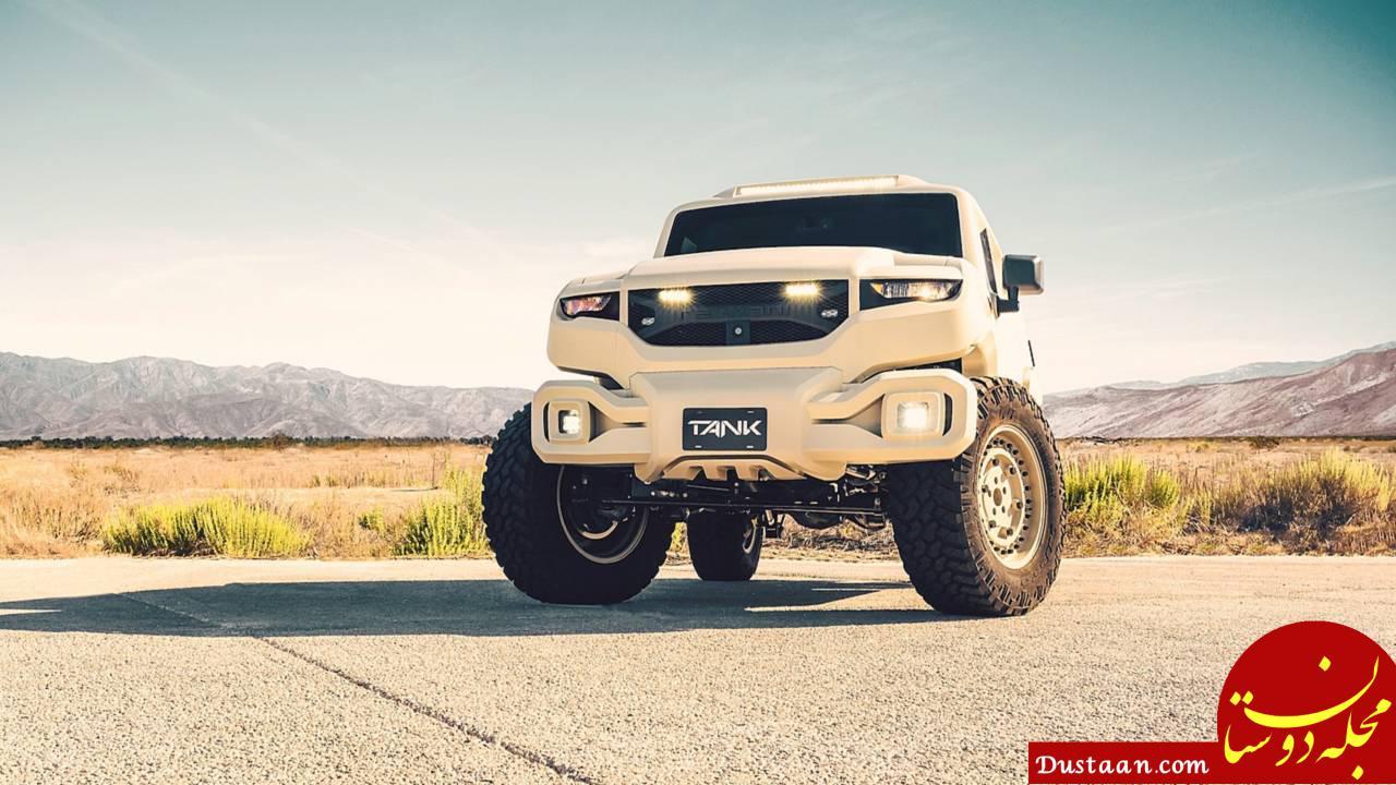 www.dustaan.com خودروی متفاوت یک ایرانی با امکانات عجیب نظامی! +تصاویر
