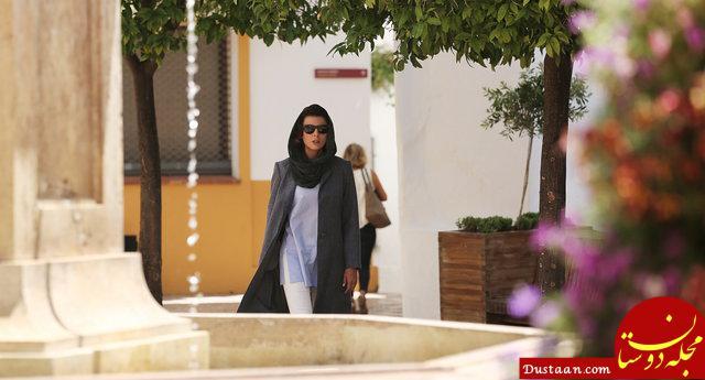 www.dustaan.com تیپ دیدنی لیلا حاتمی در اسپانیا +تصاویر