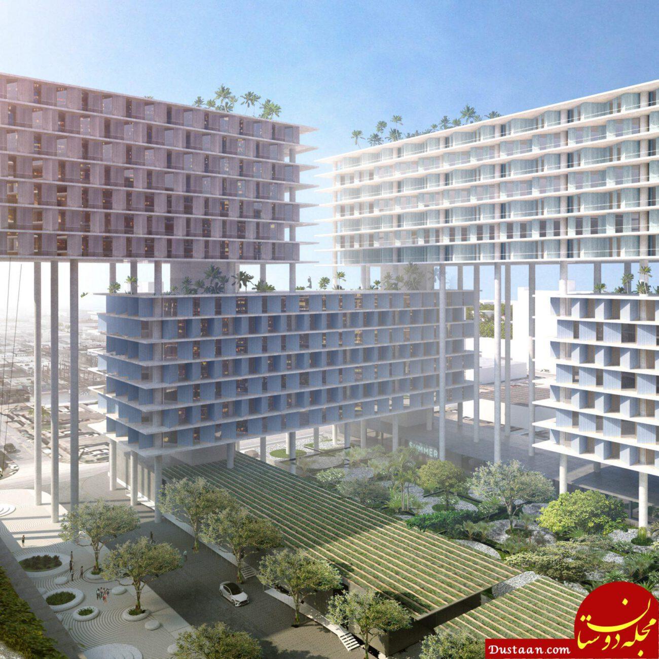 www.dustaan.com زندگی در این برج عجیب شهامت می خواهد! +عکس