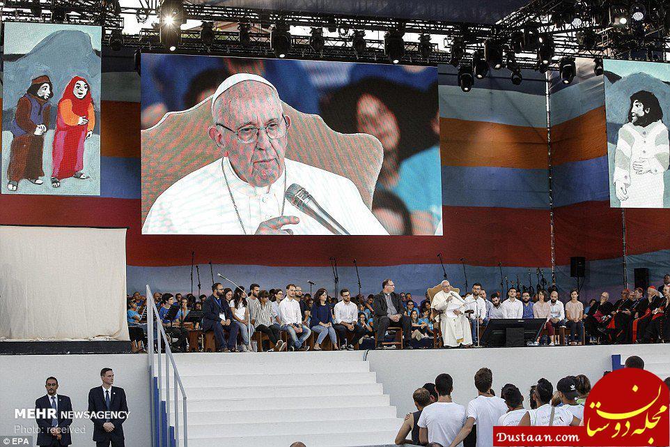 www.dustaan.com عکس ها و حواشی سفر پاپ به رم