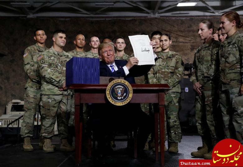 www.dustaan.com ترامپ امضای بی سابقه را بار دیگر نشان داد/ کری خشمگین شد