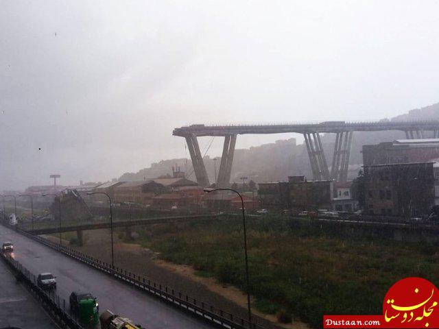 www.dustaan.com 10 کشته در ریزش پل در شهر جنوا ایتالیا +عکس