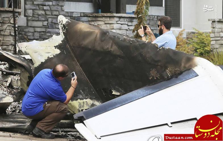 www.dustaan.com خلبانی که هواپیما را بر سر همسرش آوار کرد! +تصاویر