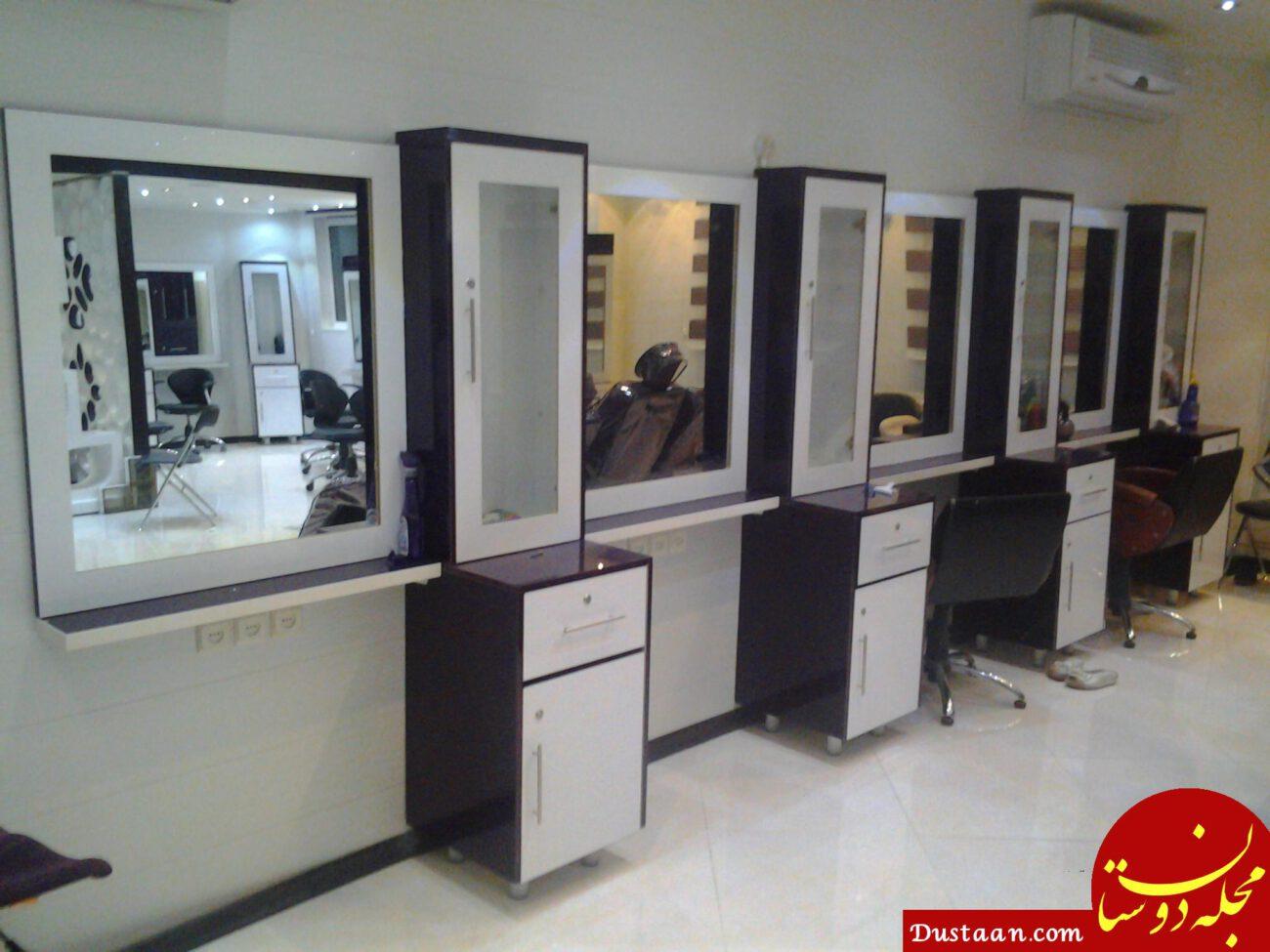 www.dustaan.com میمون وارد آرایشگاه زنانه شد/ هم او ترسید، هم زنها